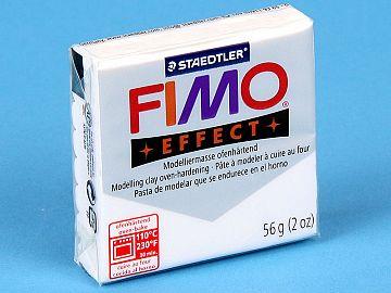 Fimo Effect Glitter - Pasta Polimerica Alb Sidefat 56g (8020 052)
