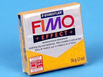Fimo Effect Glitter - Pasta Polimerica Galben Sidefat 56g (8020 112)