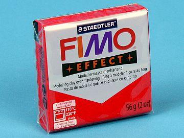 Fimo Effect Glitter - Pasta Polimerica Rosu 56g (8020 202)