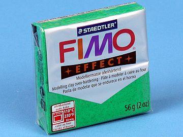 Fimo Effect Glitter - Pasta Polimerica Verde Sidefat 56g (8020 502)