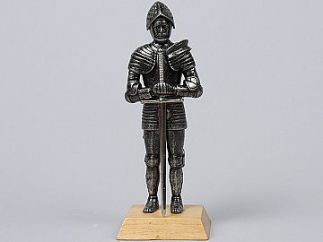 Miniatura Cavaler in armura sec XIV H8