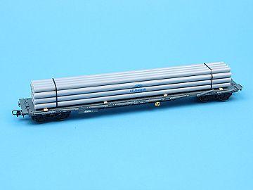 Hornby / Rivarossi HR6039 Vagon platforma (incarcat cu tevi de aluminiu)