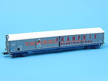 Hornby / Jouef  HJ6012 Franprix vagon  inchis SNCF (cu usi glisante)