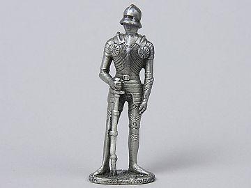 Miniatura Iancu de Hunedoara in armura QC87D