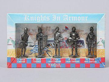 Set 5 Miniaturi Cavaleri Medievali (in cutie) KP5